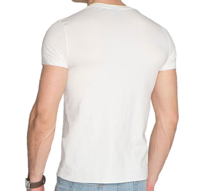 Мужская футболка с коротким рукавом V-ворот (цвет  Белый)   Все ... 5a9d483f351