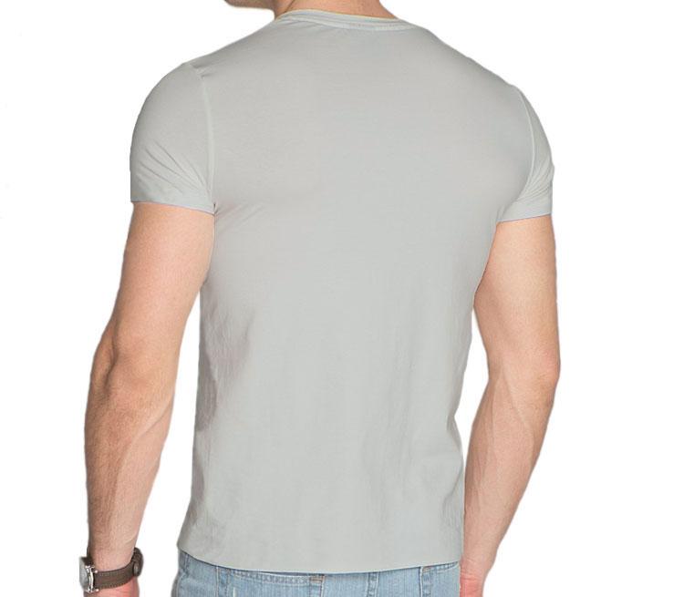 Мужская футболка с коротким рукавом V-ворот (цвет  Серебро)   Все ... 4d4e1248a8a