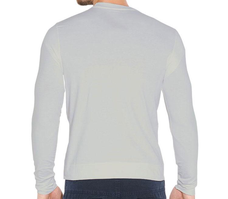 Мужская футболка с длинным рукавом стрейч (цвет  Серебро)   Все ... 1161d3f5cbc